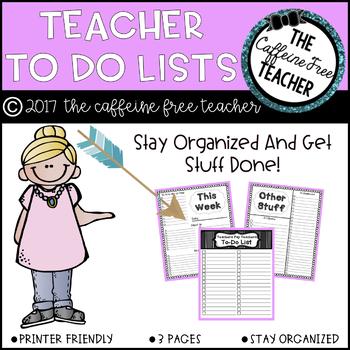 Teacher To-Do Lists!
