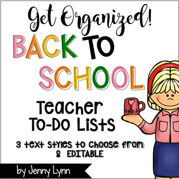 Teacher To-Do Lists-EDITABLE