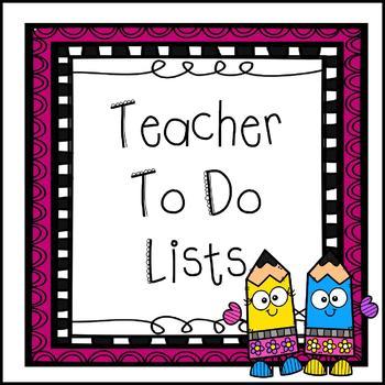 Teacher To Do Lists