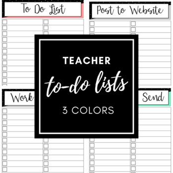 Teacher To Do Lists - Printable!