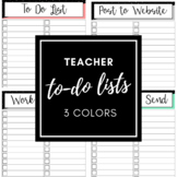 Teacher To Do Lists - Printable!