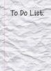Teacher To-Do Lists for Frames