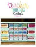 Teacher Tool Box Bright Labels