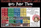 Teacher Tool Box Editable labels - Harry Potter Theme (Spo