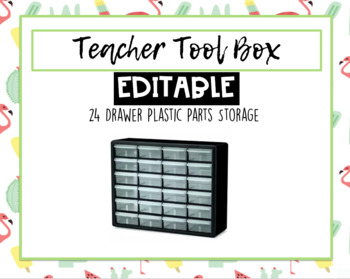 Teacher Toolbox- Flamingos & Cactus EDITABLE