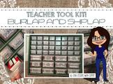 Teacher Tool Box Kit - Multi Drawer Organizer (Shiplap and Burlap)