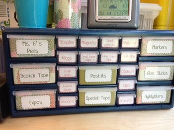 Teacher Tool Box Labels-Black and White