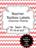 Teacher Tool Box Labels-Chevron Theme-As Seen On Pinterest!!