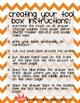 Teacher Tool Box Labels- EDITABLE!- orange chevron