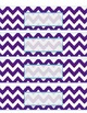 Teacher Tool Box Labels- EDITABLE!- purple chevron