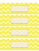 Teacher Tool Box Labels- EDITABLE!- yellow chevron