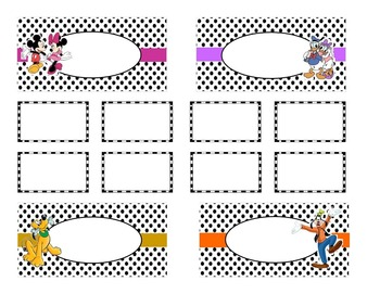 Teacher Tool Box Labels (editable)- Disney Characters