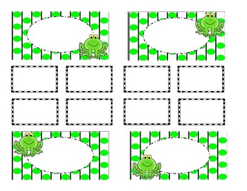 Teacher Tool Box Labels (editable)-Frogs