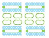 Teacher Tool Box Labels (editable)-Green and light blue