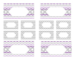 Teacher Tool Box Labels (editable)- Light Purple and Gray