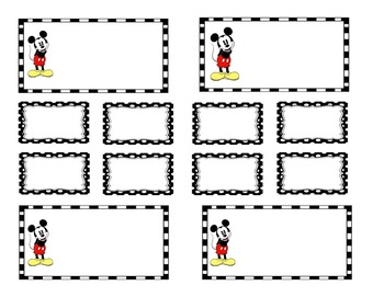 Teacher Tool Box Labels (editable)- Mickey mouse