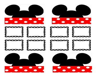 Teacher Tool Box Labels (editable)- Mickey mouse head