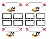 Teacher Tool Box Labels (editable)- Mickey mouse holding up
