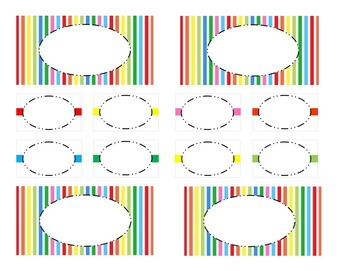 Teacher Tool Box Labels (editable)-Mulit color Stripes