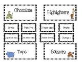 Teacher Tool Box Labels (editable)- Safari animals