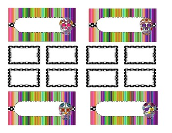 Teacher Tool Box Labels (editable)- Sugar Skulls