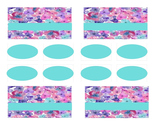 Teacher Tool Box Labels (editable)- floral teal