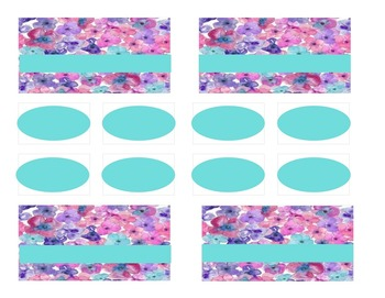 Teacher Tool Box Labels (editable)- floral teal