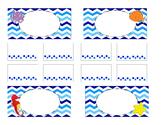 Teacher Tool Box Labels (editable)- sea creatures