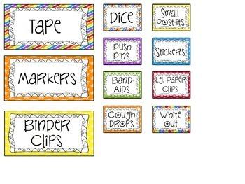 Teacher Tool Box Labels for Teacher Organization {EDITABLE}