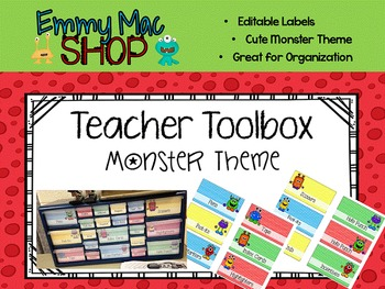 Teacher Tool Box: Monster Theme