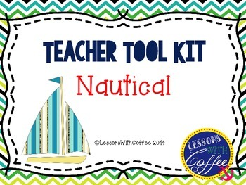 Teacher Tool Box - Nautical Style