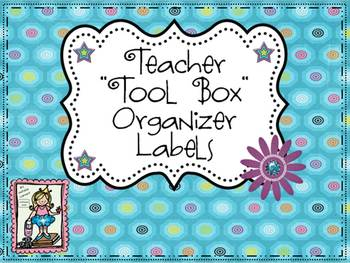 Teacher Tool Box Organizer Labels {Freebie}