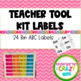 Teacher Tool Kit Alphabet Bin Labels