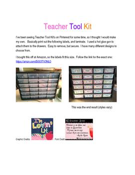 Teacher Tool Kit - Black with white polka dots