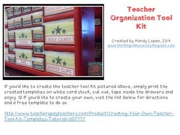 Teacher Tool Kit: Hollywood Themed Colors