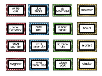 Teacher Toolbox Labels - Chevron - Editable
