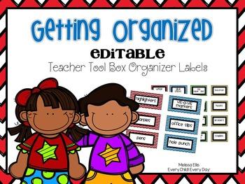 Teacher Toolbox Labels - Chevron - Editable