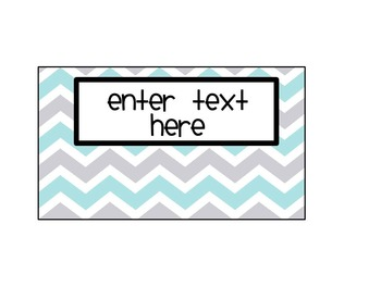 Teacher Toolbox Labels - EDITABLE-gray, white and turquoise chevron