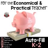 Teacher Tool Kit:  Weekly Phonics and Sight Words