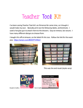 Teacher Tool Kit - stripes