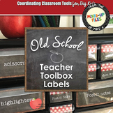 Polka Dot Teacher Toolbox Labels