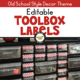 Back to School Teacher Toolbox Labels Editable