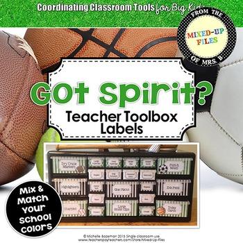 Got Spirit Teacher Toolbox Labels