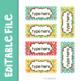Bloomin' Cute Teacher Toolbox Labels