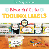 Bloomin' Cute Teacher Toolbox Labels Editable