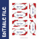 Patriotic Teacher Toolbox Labels Editable