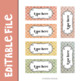 Shabby Chic Teacher Toolbox Labels