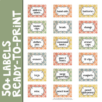 Shabby Chic Teacher Toolbox Labels Editable