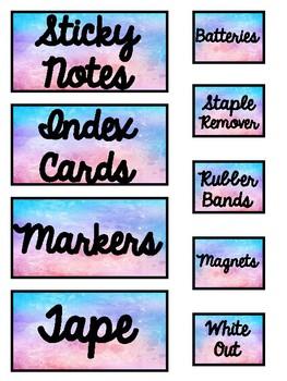 Teacher Toolbox Labels (Watercolor)