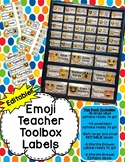 Teacher Toolbox AND Sterilite Drawer Emoji Labels- PowerPo